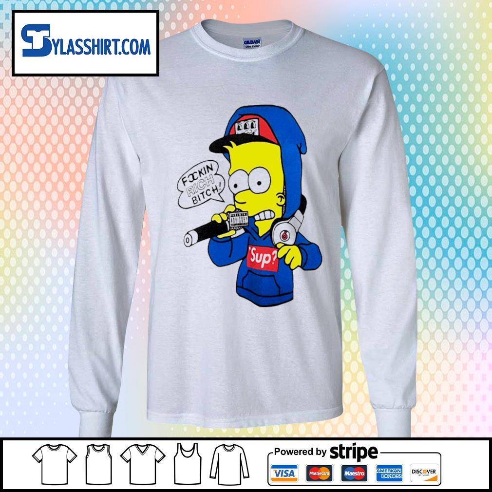 Bart Simpsons rich bitch sup s longsleeve-tee