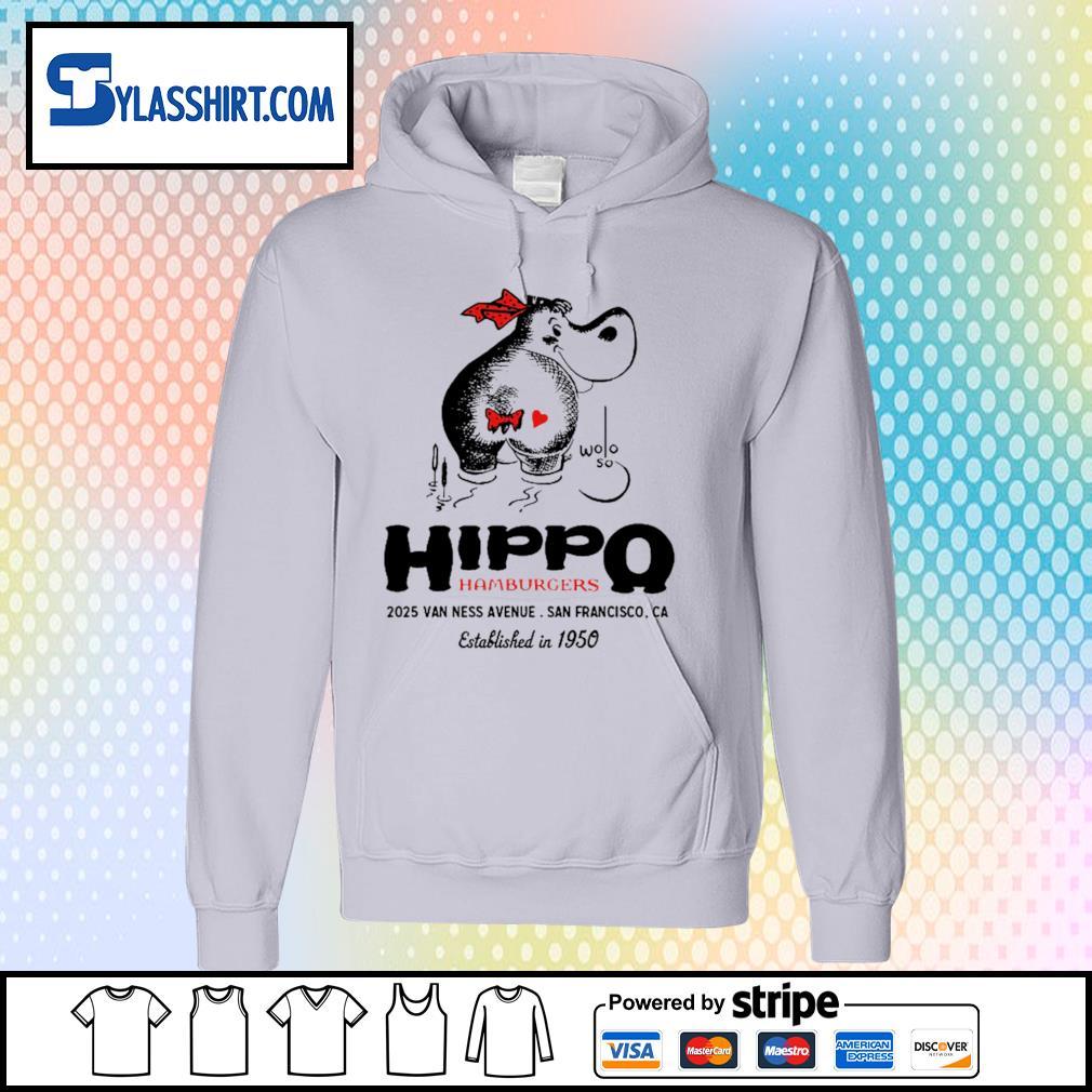 Hippo hamburgers 2025 van ness avenue San Francisco s hoodie