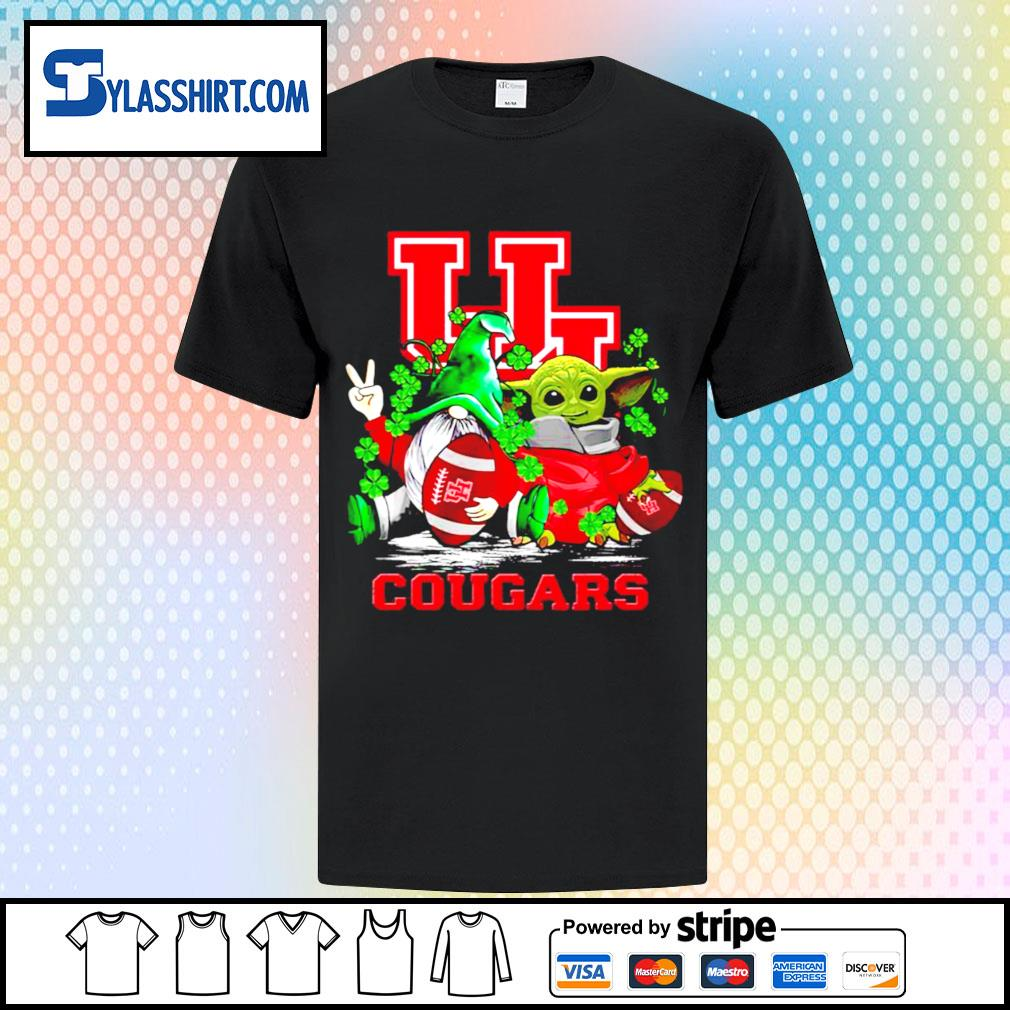St.Patrick's day Gnome and Baby Yoda Houston Cougars shirt