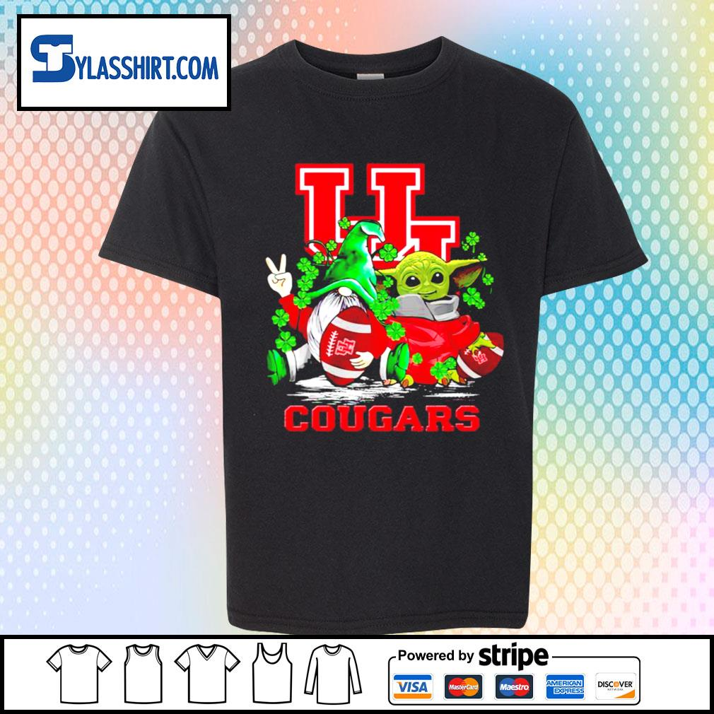 St.Patrick's day Gnome and Baby Yoda Houston Cougars s youth-shirt