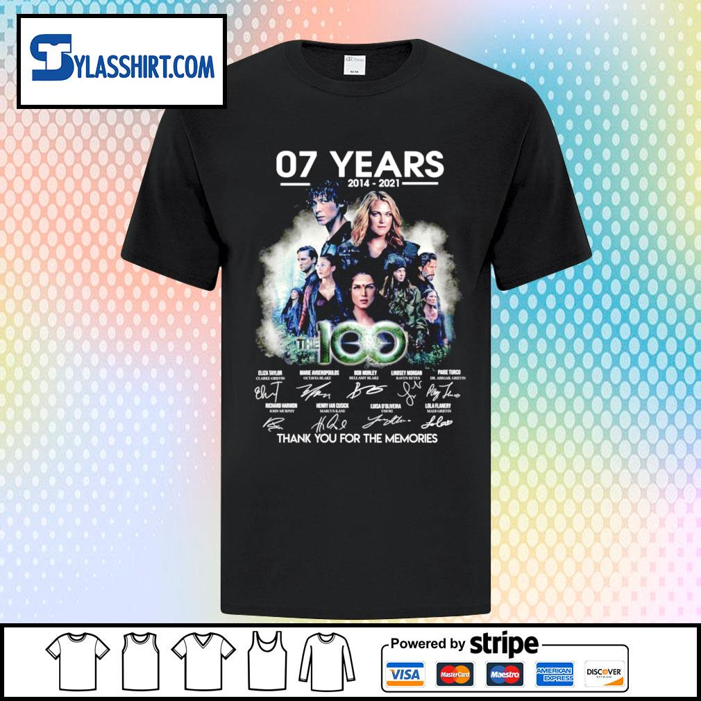 07 years 2014-2021 The 100 thank you for the memories shirt