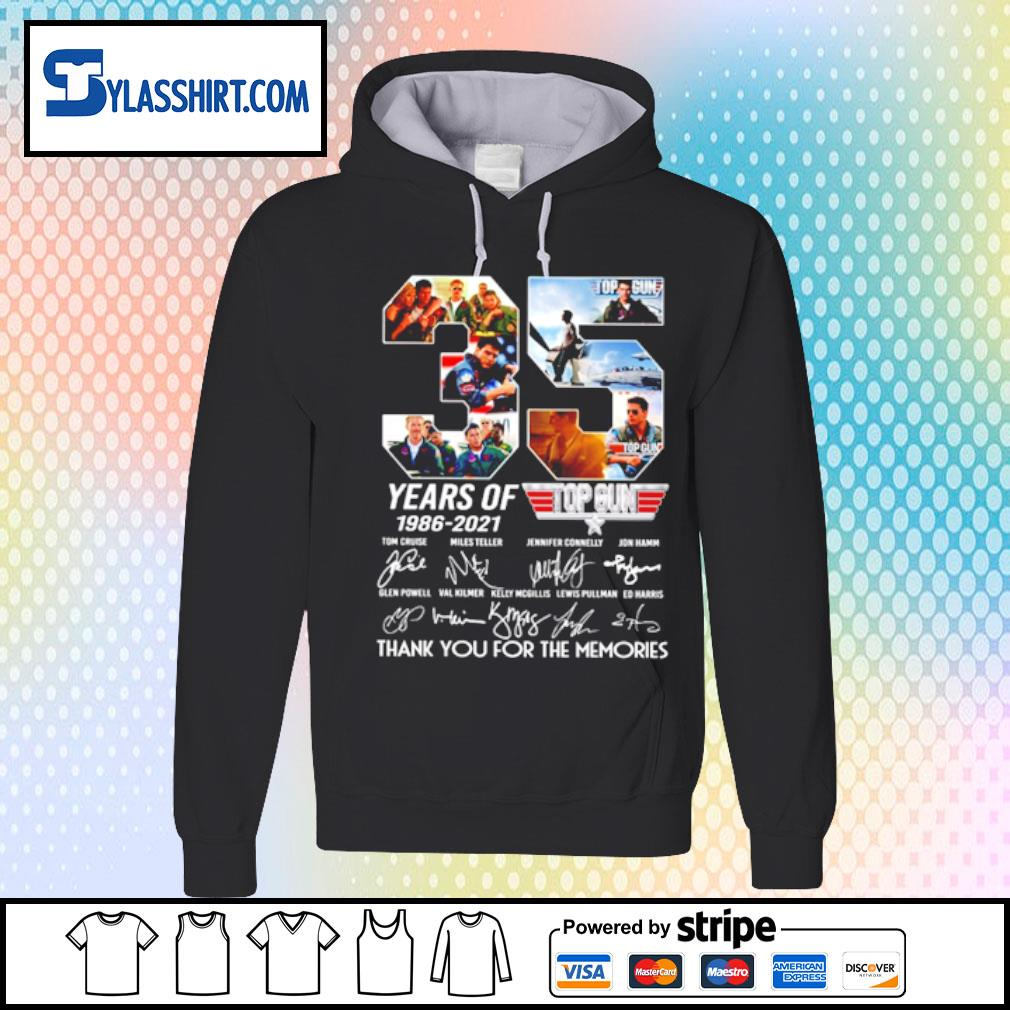 35 years of 1986-2021 top gun s hoodie