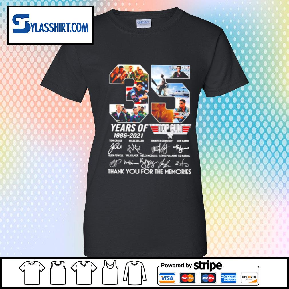 35 years of 1986-2021 top gun s ladies tee