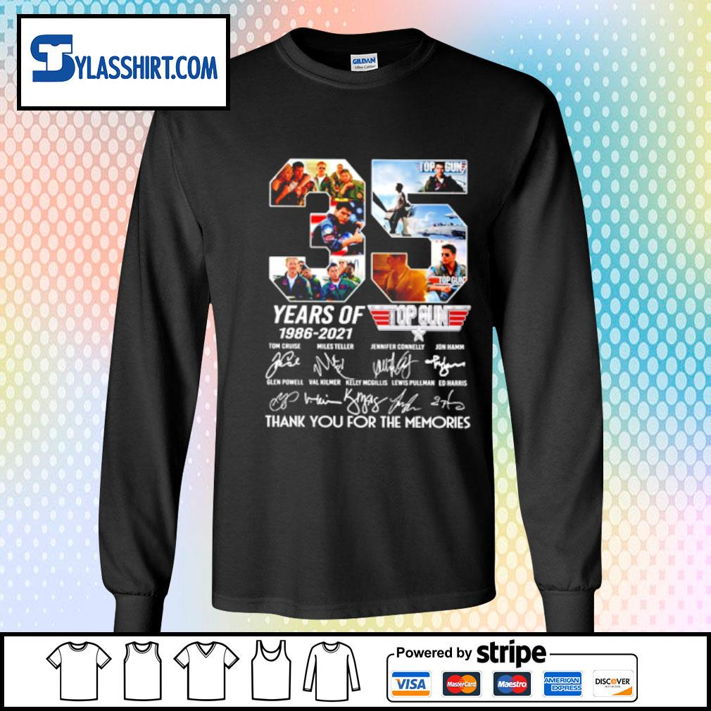35 years of 1986-2021 top gun s longsleeve tee