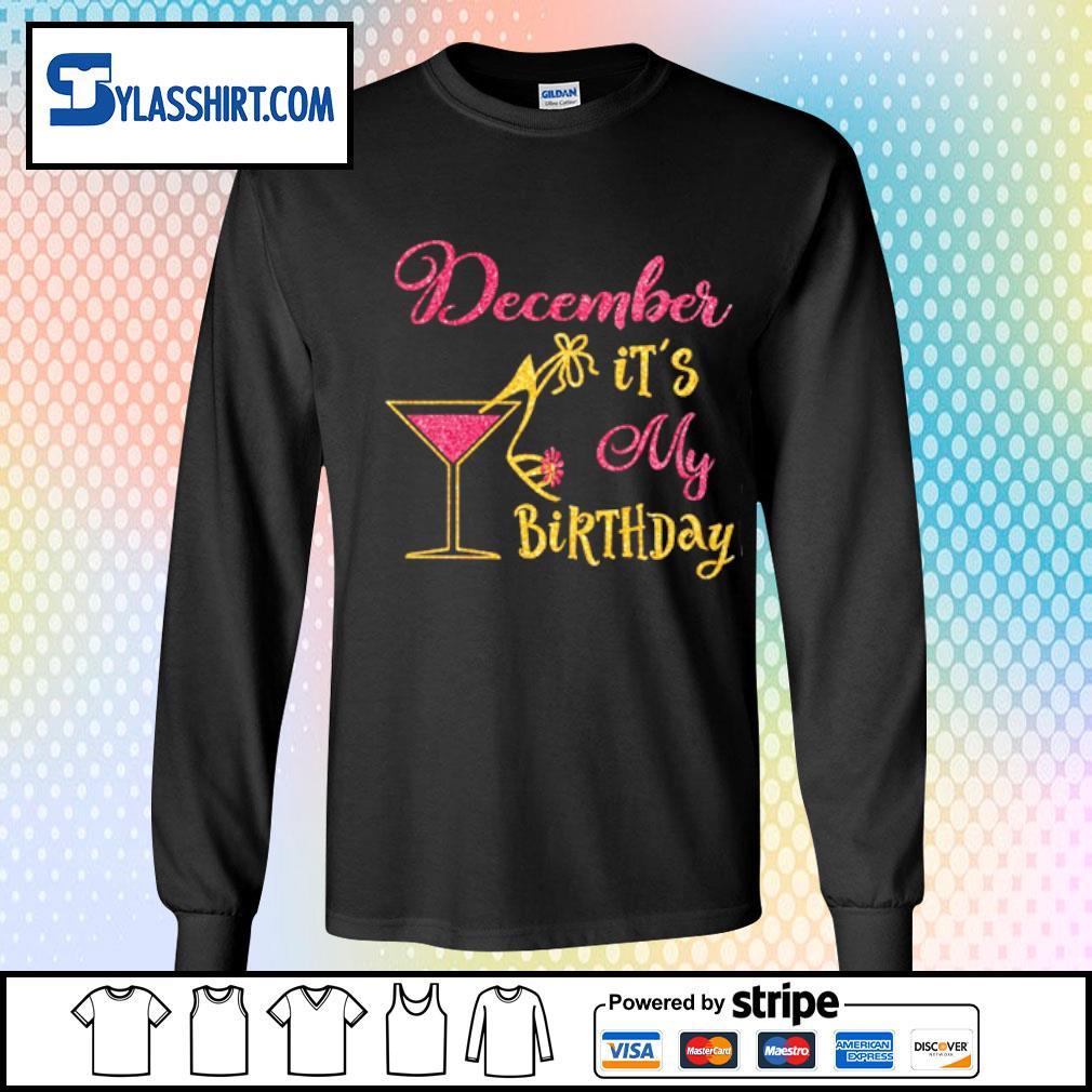 Glass Women December It's my Birthday s longsleeve tee