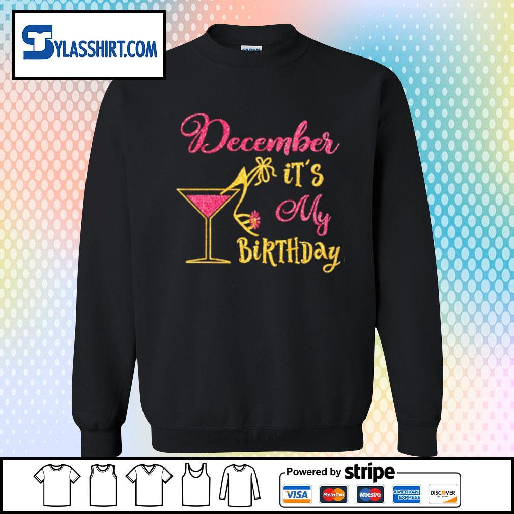 Glass Women December It's my Birthday s sweater