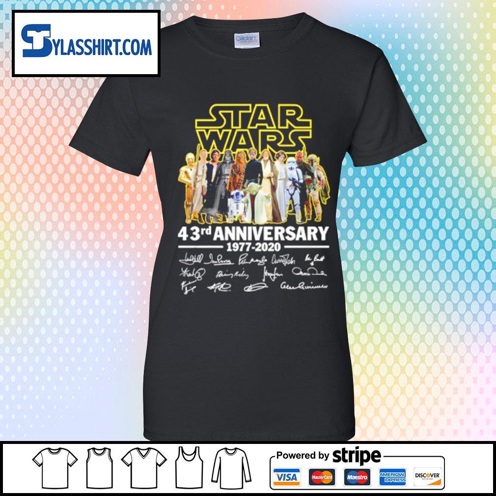 Star Wars all character 43rd Anniversary 1977-2020 s ladies tee