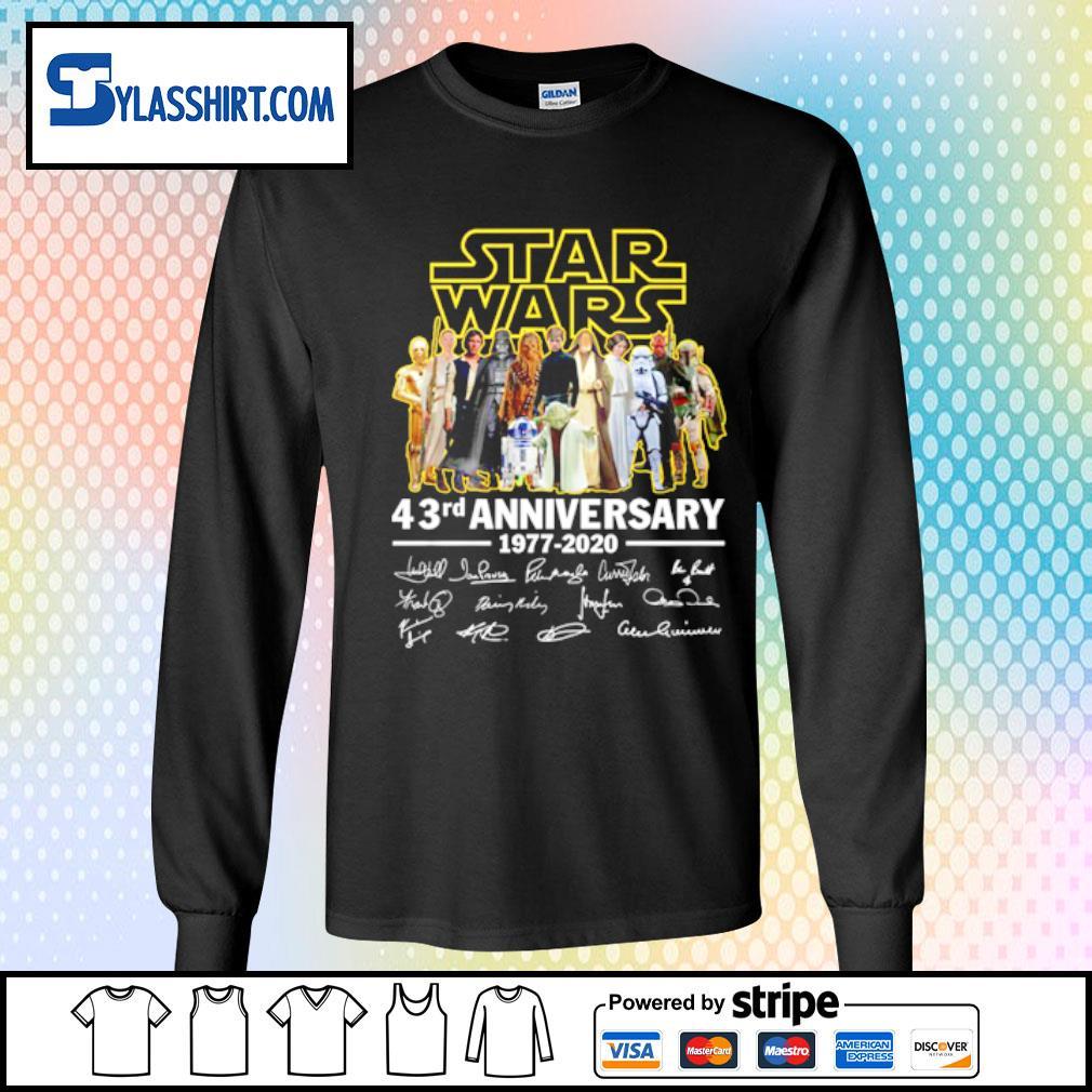 Star Wars all character 43rd Anniversary 1977-2020 s longsleeve tee