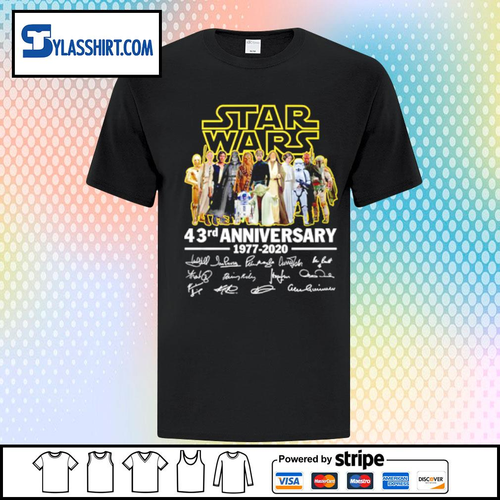 Star Wars all character 43rd Anniversary 1977-2020 shirt