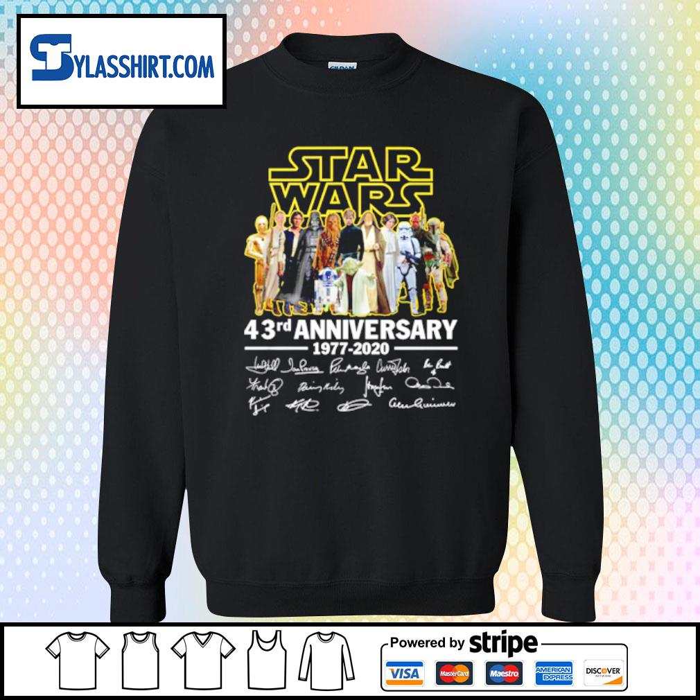 Star Wars all character 43rd Anniversary 1977-2020 s sweater
