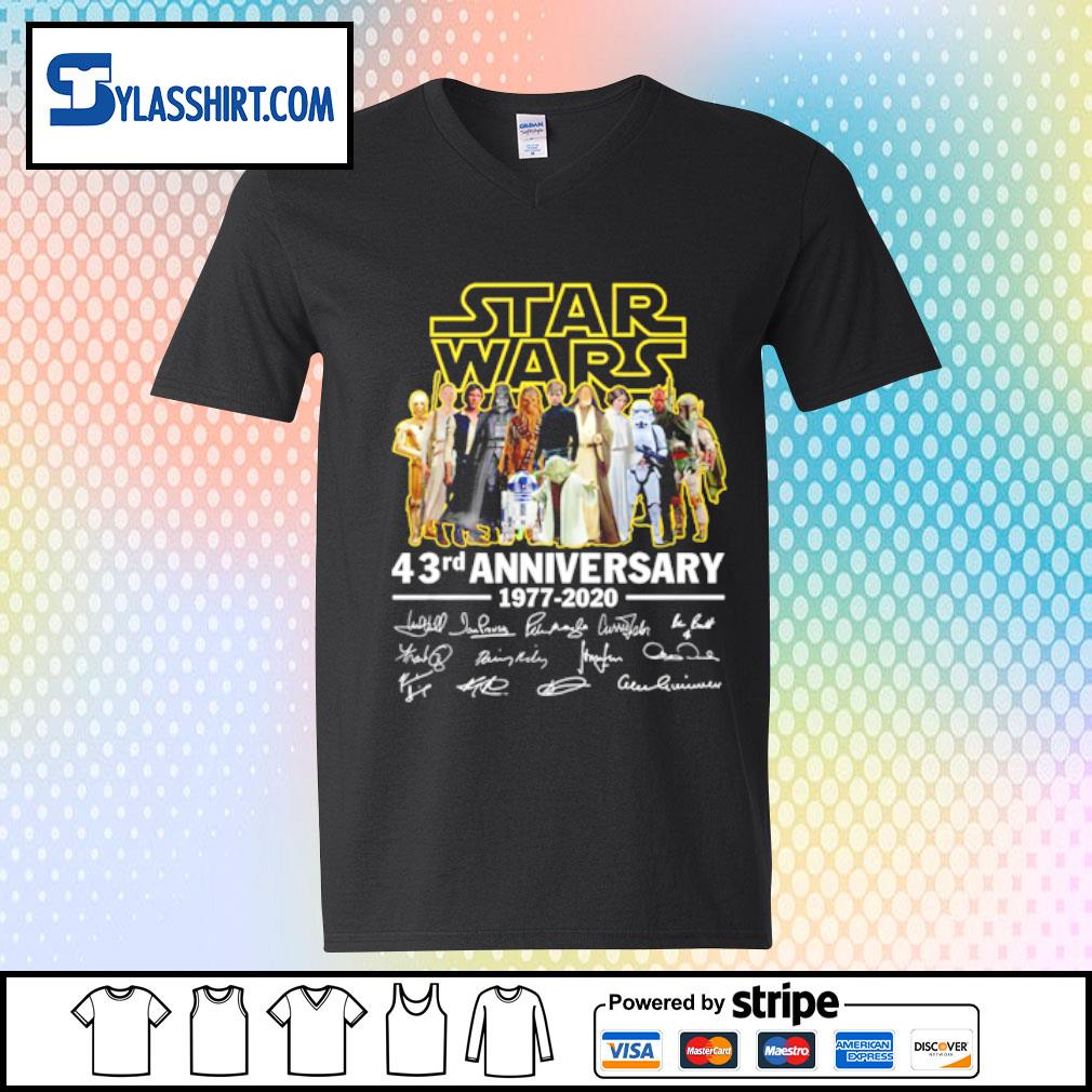 Star Wars all character 43rd Anniversary 1977-2020 s v-neck t-shirt