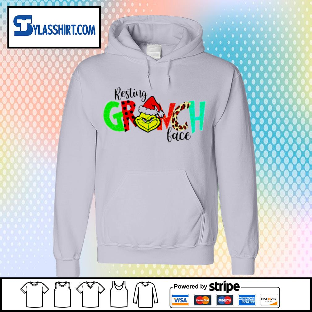 Grinch resting Grinch face Christmas s hoodie