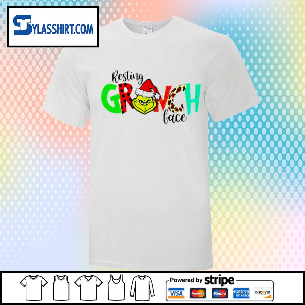 Grinch resting Grinch face Christmas shirt