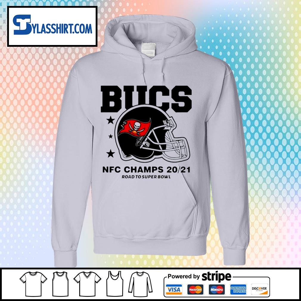 Tampa Bay Buccaneers NFC Champs road to super bowl 2021 t-s hoodie